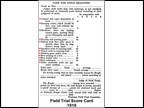 Beagle Field Trial Score Card 1919