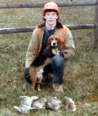 Jim Lane and Copper in 1985
